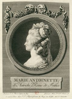 Marie Antoinette steel engraving - might be large enough to print.