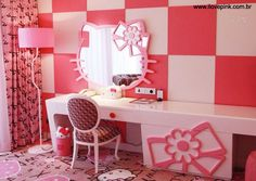Quarto da Hello Kitty no Lotte Hotel Jeju.