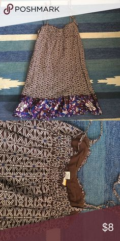 Cute Sundress Cute dress in brown, blue, and fuschia. Shoulder tie straps for adjustable fit. Mimi Chica Dresses