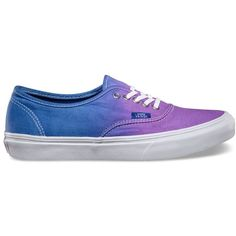 The Ombre Authentic Slim, with a slightly slimmer silhouette than that of the original, has a simple low top, lace-up durable canvas upper with ombre faded print, metal eyelets and Vans signature Waffle Outsole. Top Shoes, Cute Shoes, Vans Shoes, Me Too Shoes, Shoes Sandals, Shoes Sneakers, Vans Footwear, Flats, Cool Shoes For Women