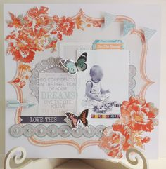 The Craftz Boutique: Kaiser Craft 'Dream Big' Layout Baby Scrapbook, Scrapbook Pages, Dream Live, Something To Remember, Layout Inspiration, Page Layout, Scrapbooking Layouts, Diy Cards, Baby Photos