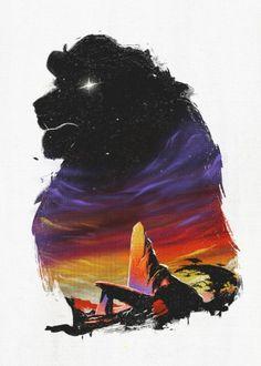 Steel poster by Ronan Lynam Images Disney, Art Disney, Disney Pictures, Disney Magic, Disney Artwork, Art Roi Lion, Lion King Art, The Lion King, Scar Lion King