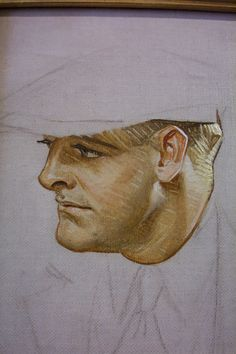 J.C. Leyendecker, original oil preliminary painting, illustration art for Kuppenheimer ad.