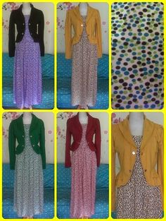 Farah OL Shop : SET LONGDRESS + BLAZER HANS B367