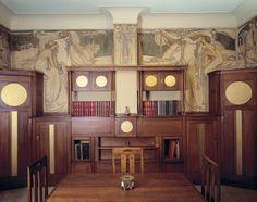 Art Nouveau interior -     Cauchie house - Paul Cauchie, 1905, Brussels