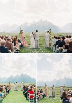 Jackson Hole ceremony in a mountain meadow. Image by carriepattersonphotography.com