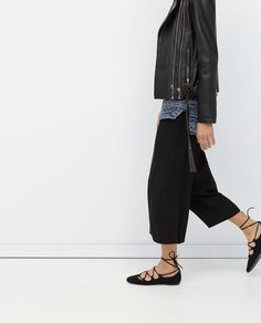 LACE-UP BALLERINA SHOES-Flats-Shoes-WOMAN   ZARA United States