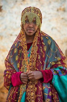 Africa | Miss Fayo in Harari traditional clothes for a celebration, Harar, Ethiopia | ©Eric Lafforgue