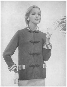 Shanghai Coat • 1950s Knit Jacket Pattern • Vintage 50s Knitting Cardigan Patterns • Retro Bernat Handicrafter • PDF File by TheStarShop on Etsy