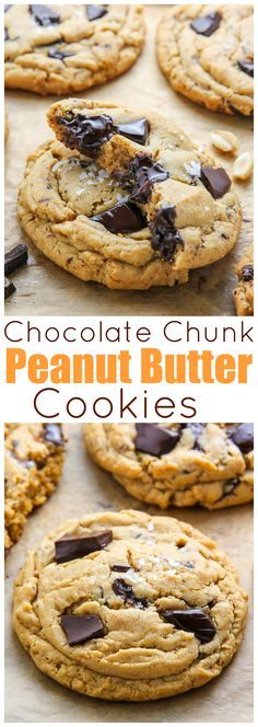 Ultra thick soft batch peanut butter cookies loaded with chocolate chunks! Perfect with a cup of coffee or a cold glass of milk.