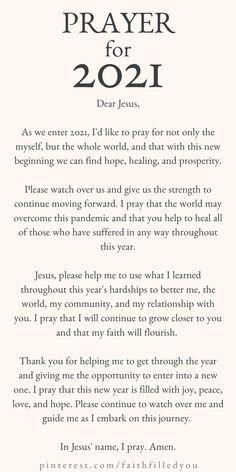 New Year Prayer Quote, New Years Prayer, Morning Prayer Quotes, Prayer For Family, Prayer Scriptures, Bible Prayers, Faith Prayer, Bible Verses Quotes, Faith Quotes
