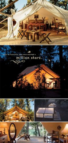 luxury camping from the resort at paws up