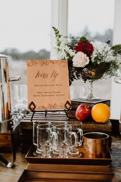 Flannery & Nick warmed up their guests with a spiced mulled wine & hot apple cider bar at their New Year's Eve wedding. Mulled Wine Spices, Apple Cider Bar, New Years Eve Weddings, Real Weddings, Apple Bars, Winter, Wedding Themes, Party Wedding, Wedding Decorations