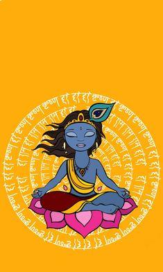 Only Krishna business! Little Krishna, Baby Krishna, Cute Krishna, Krishna Radha, Lord Krishna, Lord Shiva, Durga, Krishna Drawing, Krishna Painting
