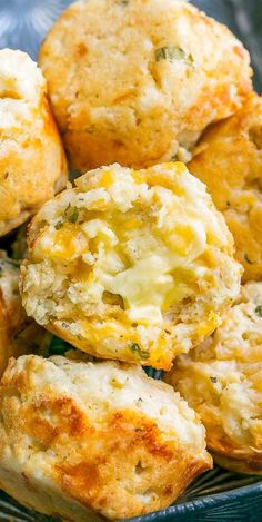 Savory Cheddar Muffins with Basil and Scallions, perfect served alongside a big holiday meal or for brunching it up with family and friends. They have this wonderful flavor explosion going on for them thanks to the combination of sharp cheddar, garlic, green onion, and basil, making them pretty darn addictive! They're awesome hot and fresh from the oven and also taste amazing warmed up with a bowl of piping hot tomato soup. Muffin Recipes, Bread Recipes, Breakfast Recipes, Cooking Recipes, Jiffy Mix Recipes, Pastry Recipes, Kitchen Recipes, Chia Jam, Savory Muffins