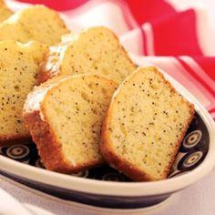 Homemade Lemon Pound Cake Recipe from Taste of Home :: shared by Corkey Addcox of Mt. Shasta, California