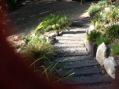 Concrete sleeper path Concrete Sleepers, Dream Garden, Pathways, Sidewalk, Gardens, Outdoors, Paths, Side Walkway, Outdoor Gardens