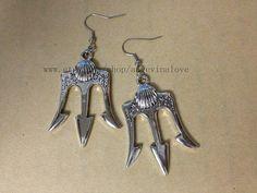 Poseidon  Percy Jackson Lightning Thief earrings  by angevinalove