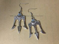 Poseidon Percy Jackson Lightning Thief earrings by angevinalove