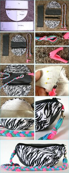 Can Can Dancer: Fanny Pack made with Scrap Fabric