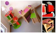 Como hacer muebles de carton para casa de muñecas - Imagui