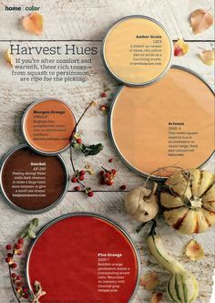 burnt+amber+paint | fall color pallets ideas for a fall wedding you can make all these ...