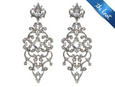 So sparkly! Vintage chandelier earrings from Tejani Jewelry