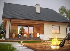 projekt domu C333b Miarodajny - wariant II - Murator projekty Acre, Home And Garden, Cottage, Exterior, House Design, How To Plan, Outdoor Decor, Garden Houses, Home Decor