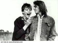 Leonardo Dicaprio y Johnny Depp en 1994 @ www.elmemeno.com