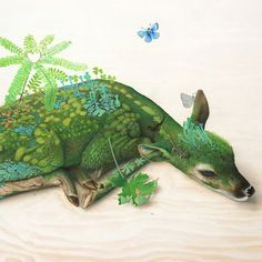 New Surreal Wildlife Paintings by Tiffany Bozic