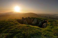 Loughcrew, Co. Meath, Sunrise from Cairn I on Carnbane West