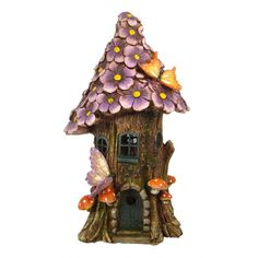 Flower_Tree_House_Large_Purple_Miniature_Fairy_Garden_i3.jpg (768×768)