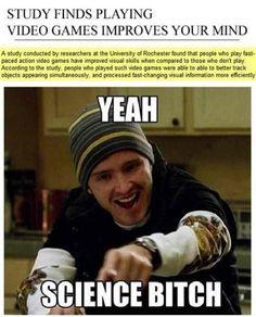 Playing Video Games Improves Your Mind Meme | Slapcaption.com