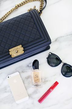 black-chanel-boy-bag-gold-hardware i. Chanel Le Boy, Coco Chanel, Chanel Quilted Handbag, New Ray Ban Sunglasses, Vip Fashion Australia, What In My Bag, Chanel Couture, Pink Peonies, Handbags Michael Kors