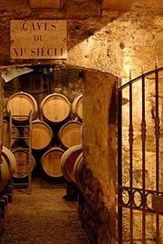 Vineyard wine cellar