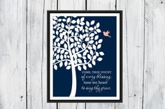 Christian Hymn Wall Art  Come Thou Fount of by TheEducatedOwl
