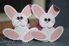 Punch art bunnies - cute idea for Easter