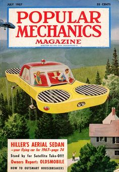 Hiller's Aerial Sedan of 1957. Popular Mechanics