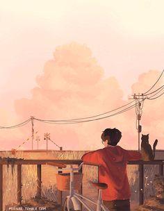 Wallpaper anime aesthetic 18 Ideas for 2019 Art And Illustration, Pretty Art, Cute Art, Aesthetic Gif, Anime Scenery, Pixel Art, Fantasy Art, Concept Art, Art Drawings