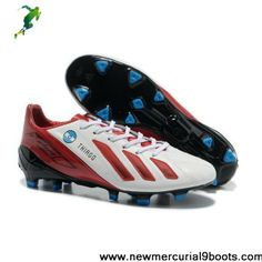 2013 New Lionel Messi adidas adizero F50 with THIAGO FG in White Red Football Shoes On Sale