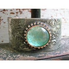 Mermaid cuff bracelet Ariel's Song boho jewelry, bohemian mermaid... ($79) ❤ liked on Polyvore featuring jewelry, bracelets, boho chic jewelry, nautical jewelry, boho bangles, bohemian jewelry and bohemian bangles