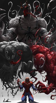 Artwork from the Marvel universe. Venom Comics, Marvel Venom, Bd Comics, Marvel Comics Art, Marvel Heroes, Marvel Characters, Best Marvel Villains, Deadpool Wallpaper, Avengers Wallpaper