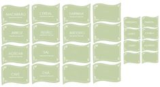 Organize sem Frescuras | Rafaela Oliveira » Arquivos » Etiquetas para ajudar na organização Tupperware, Home Organization, Diy And Crafts, Printables, Simple, Prints, Inspiration, Organize, Kitchen