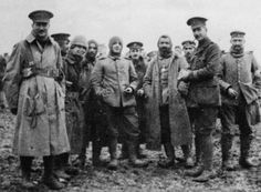 An Unusual Moment During World War I - The Christmas Truce: British and German soldiers meeting in No Man's Land during the Christmas Truce of