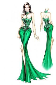 Dress Design Drawing, Dress Design Sketches, Fashion Design Sketchbook, Fashion Design Portfolio, Fashion Design Drawings, Fashion Sketches, Fashion Drawing Dresses, Fashion Illustration Dresses, Fashion Art