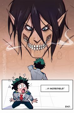 Izuku Midoriya || Eren Jaeger || Boku no Hero x Shingeki no Kyojin Crossover || Part 1