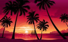 Palm Tree Beach Sunset | sunset hd wallpapers palm trees sunset wallpapers palm trees sunset ...