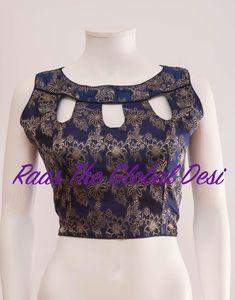 readymade saree blouse online USA Saree Jacket Designs, Fancy Blouse Designs, Sari Blouse Designs, Blouse Neck Designs, Blouse Styles, Designer Blouse Patterns, Indian Designer Wear, Couture, Blouse Online