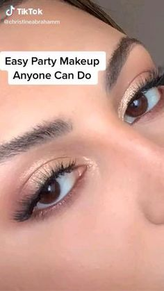 Party Makeup Video, Simple Party Makeup, Party Makeup Looks, Makeup Eye Looks, Eye Makeup Steps, Eye Makeup Art, Skin Makeup, Simple Makeup For Wedding, Party Eye Makeup