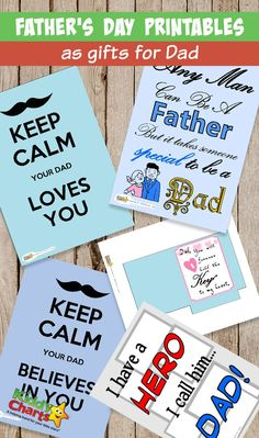 Fathers Day printables as gifts for awesome Dad